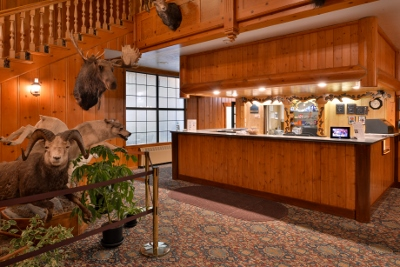 Check in at the original West Yellowstone lodging